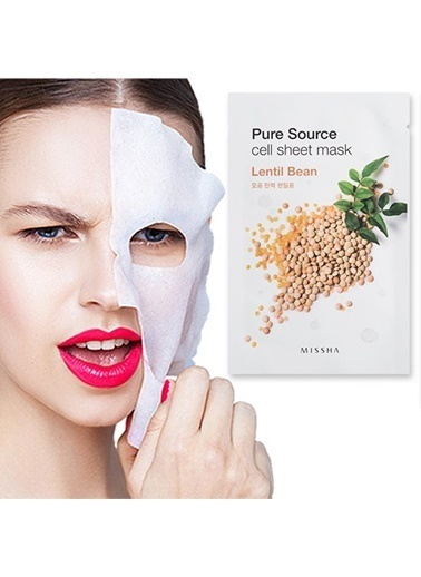 Missha Pure Source Cell Sheet Mask (Lentils) Renksiz